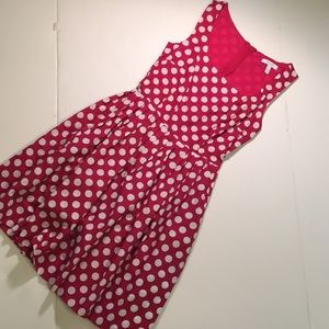 Delias Hot Pink and White Polkadot Sundress - XS